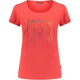 Meru Leeston Naiset Lyhythihainen paita , punainen